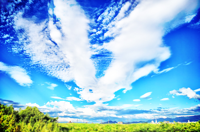 狭山池:Rabbit sky 2012_07_16