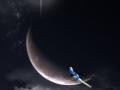 鳥さんと月